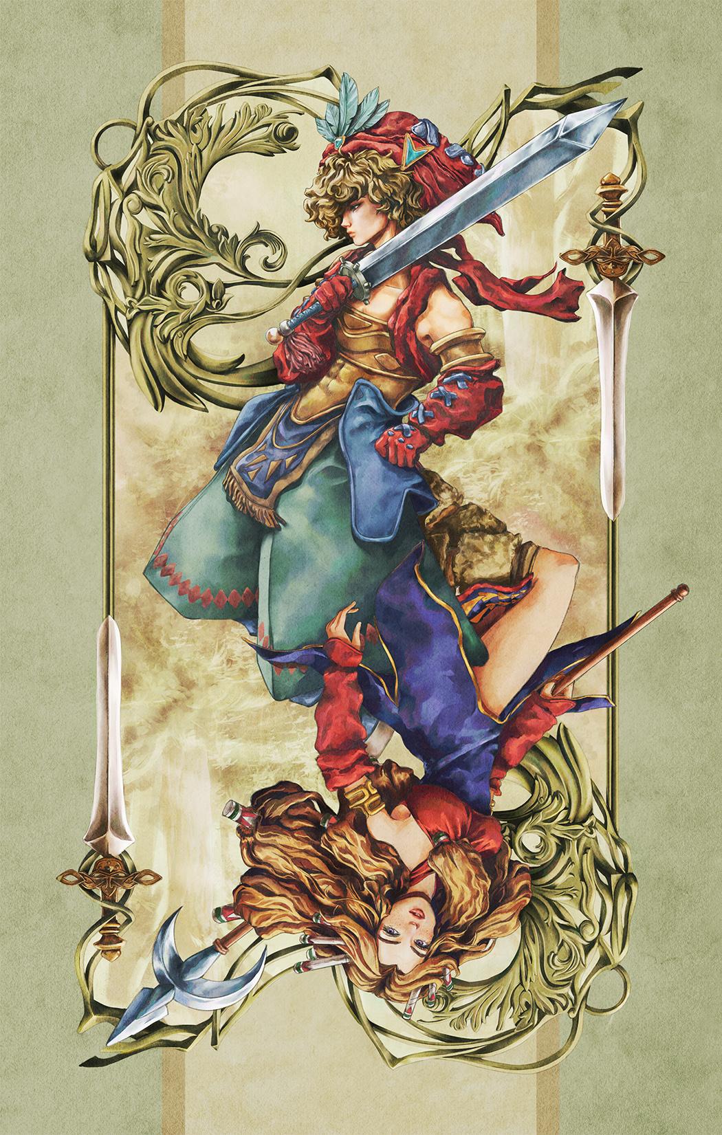 Paola Tuazon - 聖剣伝説 Seiken Densetsu: Legend of Mana - Hero Male Character Fanart PS1 JRPG Game