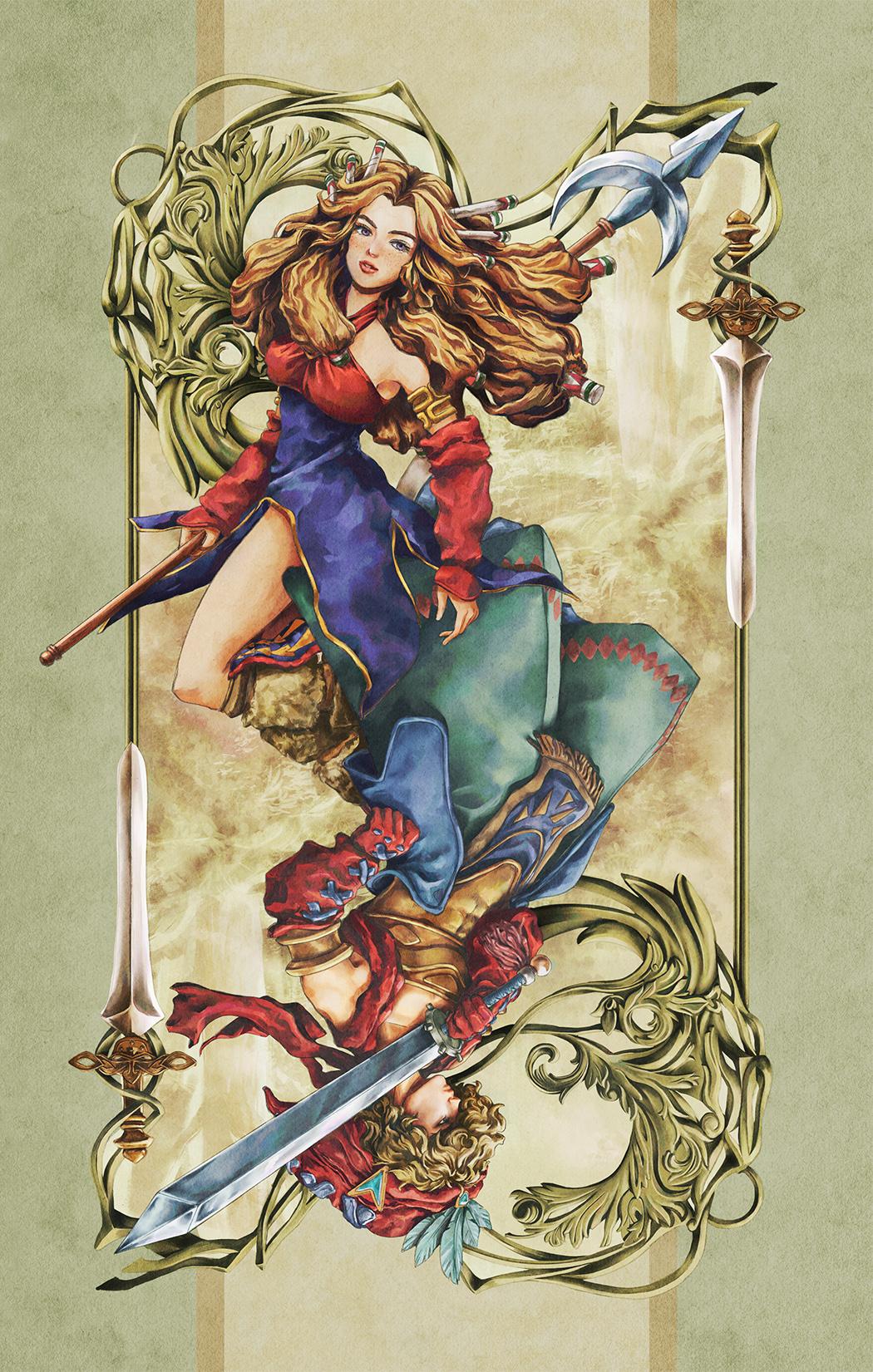Paola Tuazon - 聖剣伝説 Seiken Densetsu: Legend of Mana - Heroine Female Character Fanart PS1 JRPG Game