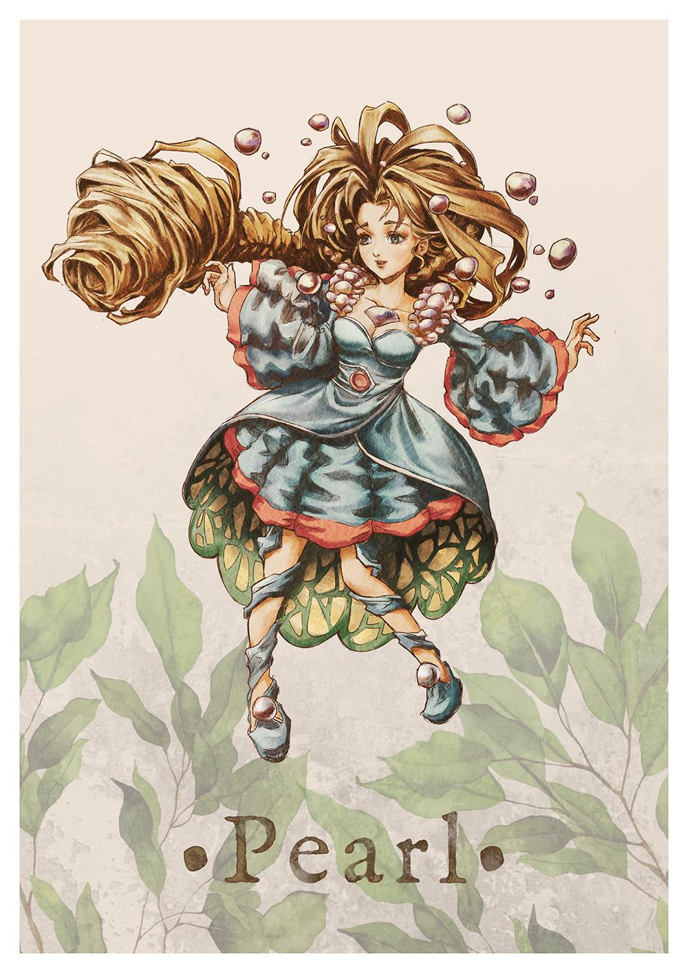 Paola Tuazon - 聖剣伝説 Seiken Densetsu: Legend of Mana - 真珠姫 Jumi Guardian Pearl Fanart